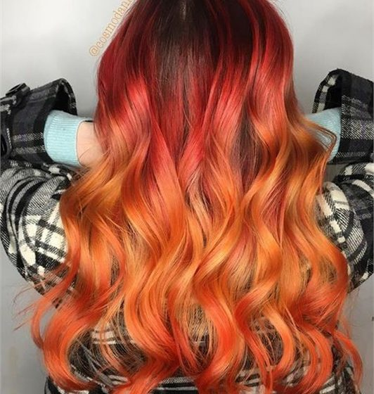 HOW-TO: Fall Bonfire Hair Color