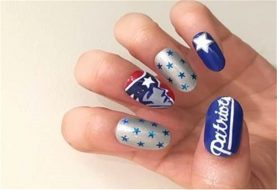 SUPER BOWL NAGELKUNST: Go New England Patriots!
