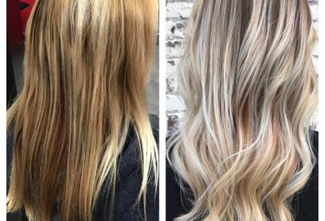 COLOR CORRECTION: Bright Blonde Balayage