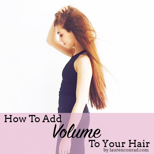 Beauty Note: Wie Sie Ihrem Haar mehr Volumen hinzufügen