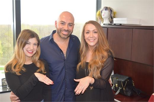 Gino Trunzo mit Jamie Newman und Alison Alhamed von MODERN.
