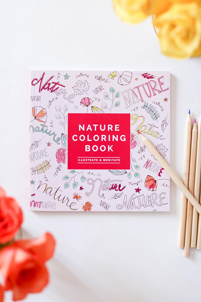 Natur-Malbuch, nur eines der vielen entzückenden Dinge in unserer FabFitFun-Box