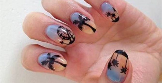 Coachella-Inspired Nail Art