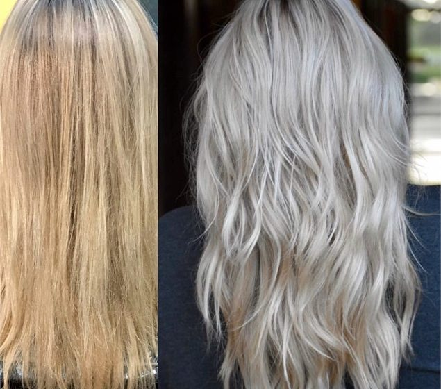 Den Übergang von einer warmen zu einer kühlen Blondine machen