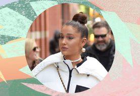 Ariana Grande rockt ein schickes, verdrehtes Brötchen für einen Einkaufsbummel mit ihren Freunden