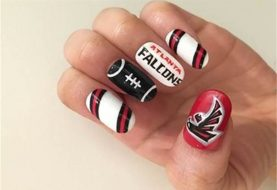 SUPER BOWL NAIL ART: Go Atlanta Falcons!