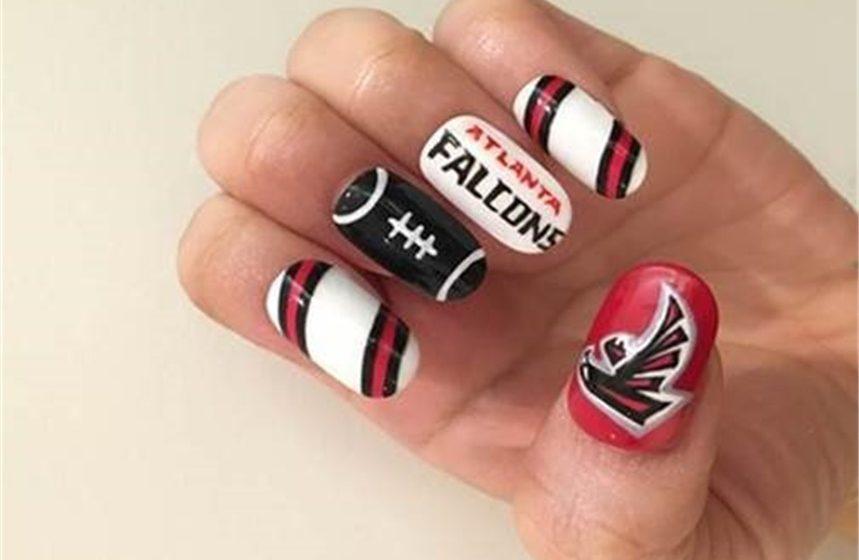 SUPER BOWL NAIL ART: Go Atlanta Falcons!