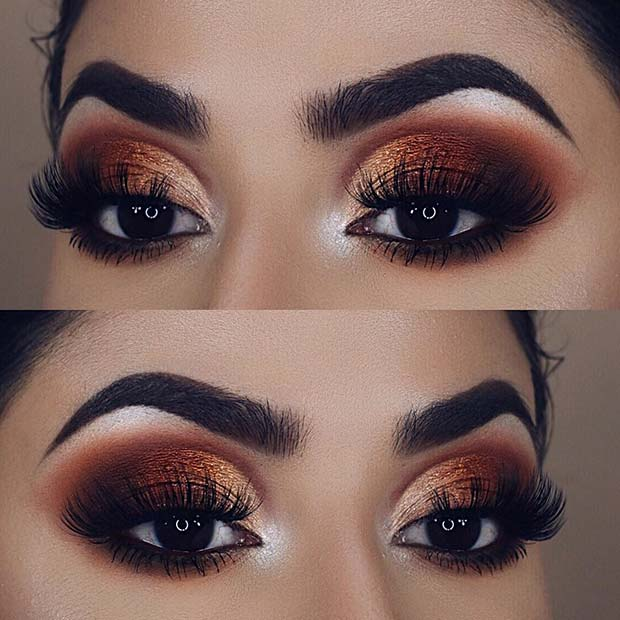 Bronze Augen Make-up Idee