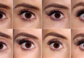 Wie 100 verschiedene falsche Wimpern auf 1 Auge aussehen