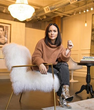 Alex Brown in ihrem Chicagoer Studio, einem ehemaligen Innenarchitekturraum.