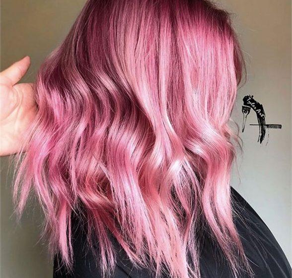 HOW-TO: Pink und Pfirsich-Haarfarbe mit Goldwell @Pure Pigments