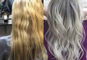 Hervorhebung der hervorgehobenen Haare mit Balayage