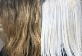 MAKEOVER: Das Blech zu einer schönen eisigen Blondine schneiden