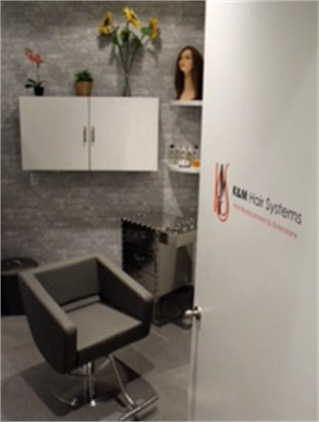Der private Raum für K & M Hair Systems in Maggie the Salon.