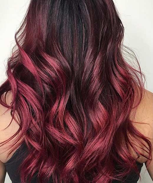 Dark Red Ombre Hair Idea
