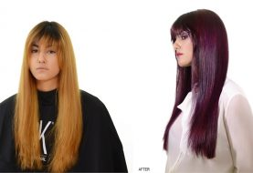 MAKEOVER: Copper to Royal Purple with the GKhair Lavender Bombshell Masque