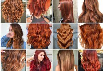 20 glühende Haarfarben und -stile