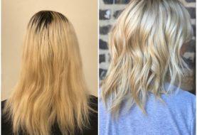 MAKEOVER: Ausgewachsenes Platin für natürliche, handliche Blondine